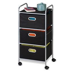 Honey-Can-Do CRT-02184 3 Drawer Fabric Storage Cart