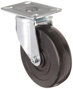 E.R. Wagner Plate Caster, Swivel, Soft Rubber Wheel, Roller