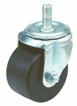 E.R. Wagner Stem Caster, Swivel, Polyolefin Wheel, Plain Bea