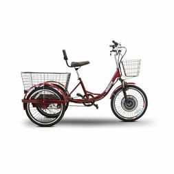 eWheels EW29 Electric Trike Red Pedaling Tricycle Scooter 15