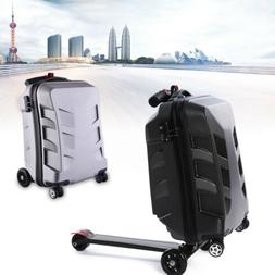"""Foldable 21"""" Rolling Suitcase Scooter Luggage Trolley Luggag"""