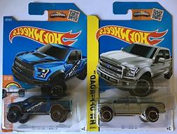 Hot Wheels Ford F-150 F150 Pickup Truck and SVT Raptor in Si