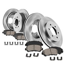 FRONT 350 mm + REAR 342 mm Premium OE 6 Lug  Rotors +  Quiet