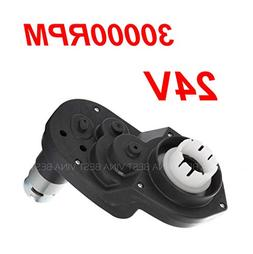 24V Gearbox for Power Wheels Large Axle Hole, 24 Volt Motor