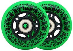 GREEN CHEETAH Wheels for RIPSTICK ripstik wave board ABEC 9
