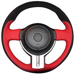 Hand Sewing Genuine Leather Steering Wheel Cover for 2013 20