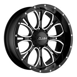 Helo HE879 Gloss Black Wheel With Machined And Milled Face