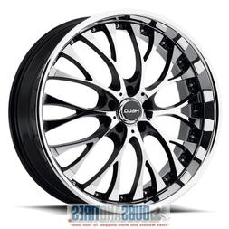 Helo HE890 Gloss Black Wheel with Painted Finish and Machine
