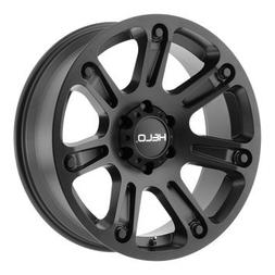 Helo HE904 17x9 Machined Black Wheel / Rim 5x5 with a 0mm Of