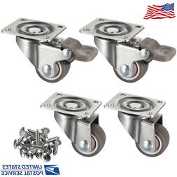 Heavy Duty Caster Wheels Soft Rubber Swivel Caster with 360