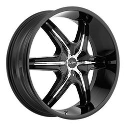 HELO HE891 GLOSS BLACK W/ ACCENTS 22x9 Wheel PartNumber HE89