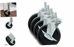 Honey-Can-Do 4-Inch Caster Roller Wheels for HCD Shelving Un