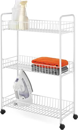"Honey-Can-Do Crt-01149 3-Tier Laundry Cart, 23""L X 8""W X 31"""