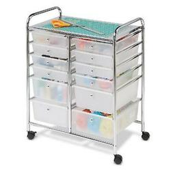 Honey Can Do Rolling Storage Cart and Organizer with 12 Plas