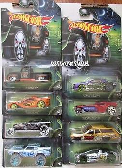 HOT WHEELS 2017 HAPPY HALLOWEEN COMPLETE SET OF 8 FORD PLYMO