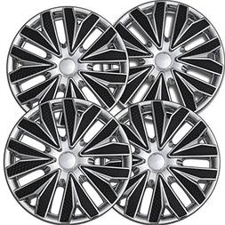 OxGord Hub-caps for 12-17 Nissan Versa Wheel Covers 15 inch
