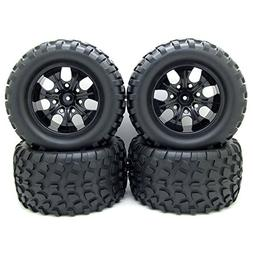 12mm Hub Wheel Rim & Tires 1/10 Off-Road RC Car Buggy Tyre w
