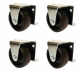 """2"""" Inch Low Profile Trundle Casters / Wheels Cabinet Roll-Ou"""