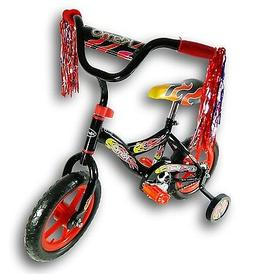 "Kids 12"" Kismo Girl's Boy's Training Wheels Bicycle Bike Bla"
