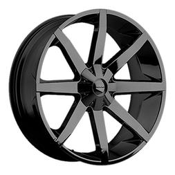 KMC Wheels KM651 Slide Gloss Black Wheel With Clearcoat