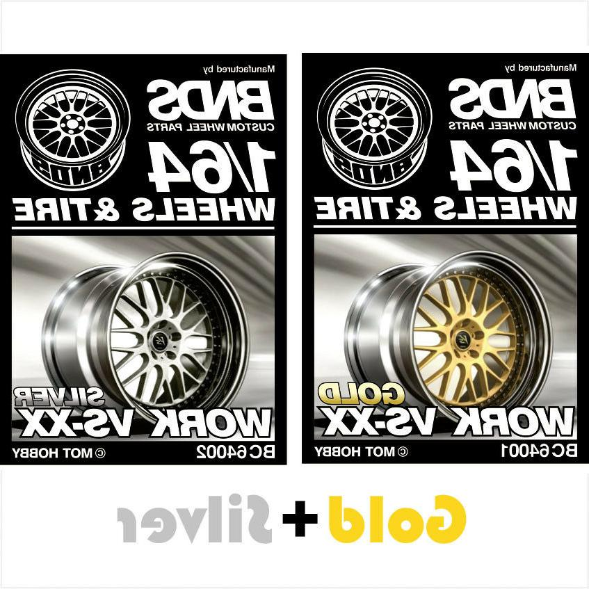 1 64 alloy wheels rubber tires gold