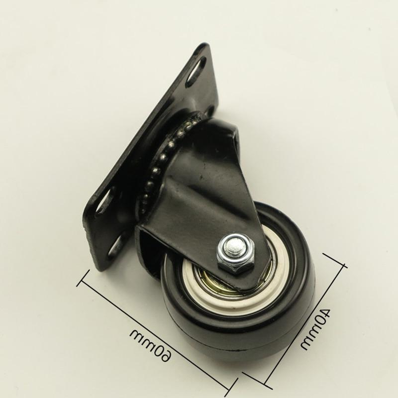 Black Chair Swivel Casters <font><b>Industrial</b></font> Furniture <font><b>Hardware</b></font> Office Universal <font><b>Wheels</b></font>
