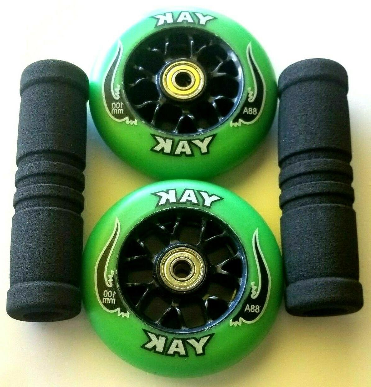 2 100mm razor scooter replacement wheels w