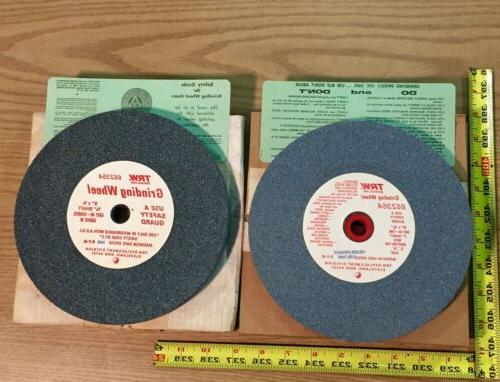 "2 TRW Bench Grinding Wheels 8"" x 3/4"" One Coarse Wheel One F"