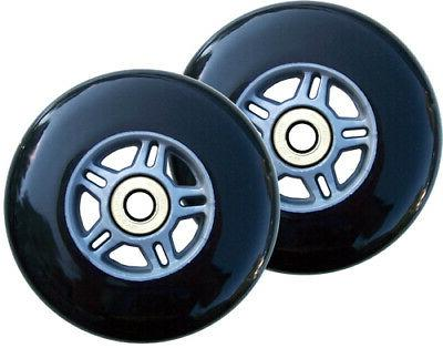 2 black replacement wheels