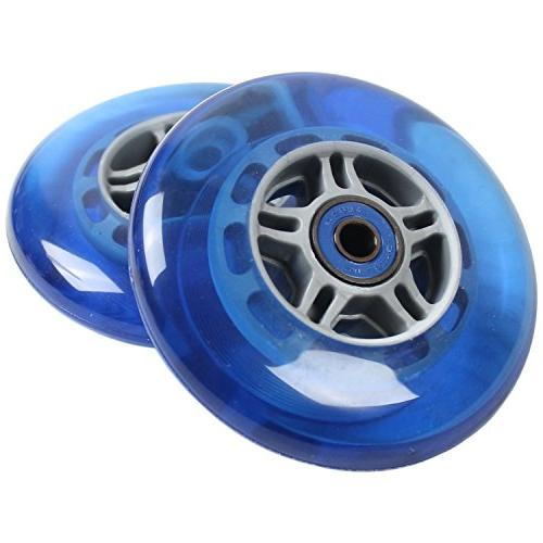 2 blue wheels w abec