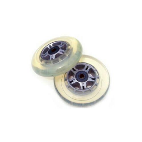 2 clear replacement wheels abec7 bearings scooter