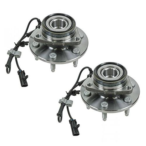 2 front wheel hubs and bearings pair