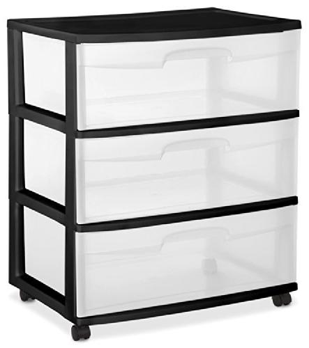 29309001 wide 3 drawer cart