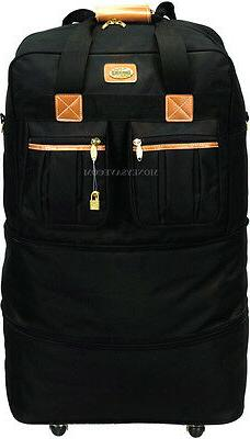 """30"""" Expandable Rolling Duffel Bag Wheeled Spinner Suitcase L"""