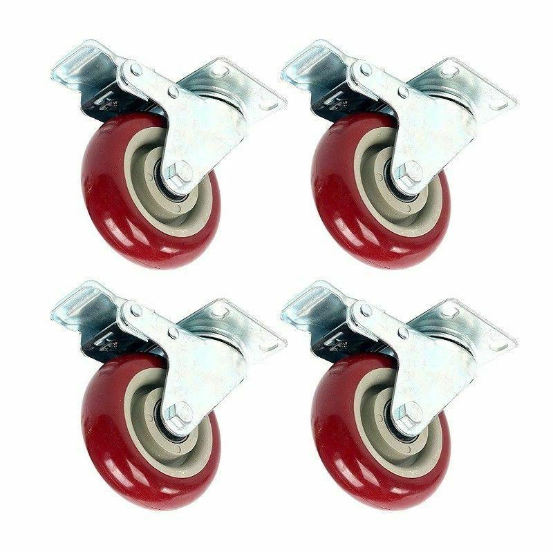 4 pack heavy duty 3 inch caster