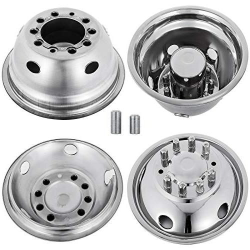 Mophorn 4 PCS Wheel Inch 10 Fit Ford F450 - Trunk Stainless Bolt Cover