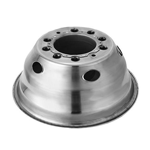 Wheel 19.5 Inch 10 Lug Hubcap Kit Fit for 2005-2017 Trunk Polished Stainless Bolt Dually Wheel Cover Set