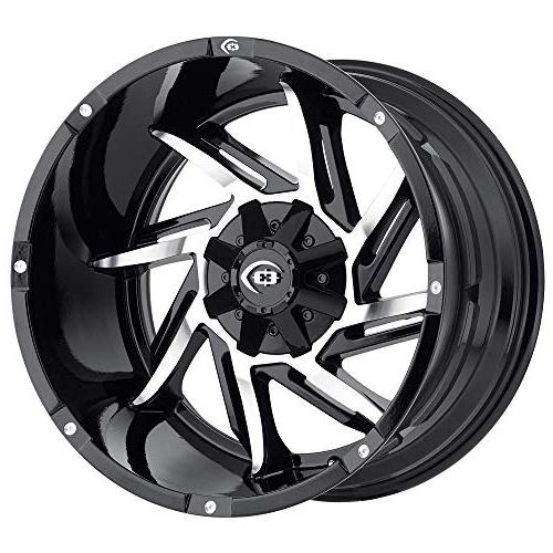 422 prowler gloss black machined face wheel
