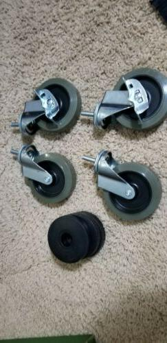4in 4pcs Swivel Caster Wheels For Furniture Dolly Workbench