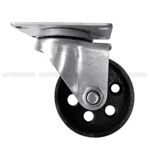 """4X Swivel Top Plate & Bearing Casters 3"""""""