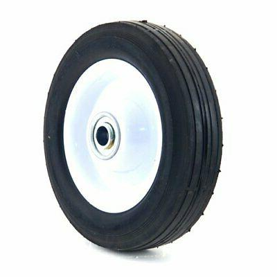 6 inch steel wheel with ribbed tread