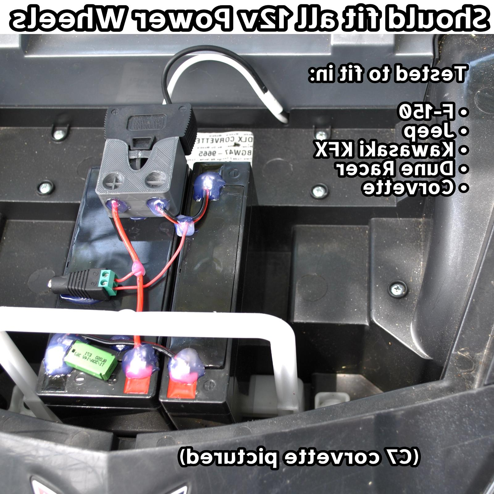 8-MPH Upgrade Battery Power Wheels Mod 12v Fisher 18 volt faster