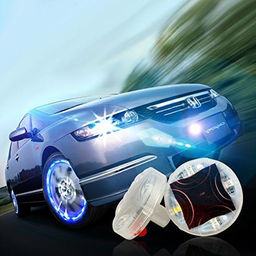 Car Solar Tire Air Light with LED Nozzle for