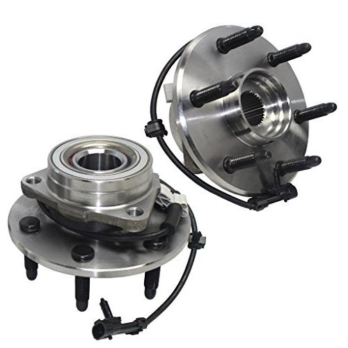 Detroit Axle- Both Front Driver Passenger Side Wheel Hub and Bearing  Assemblies for 4x4 Models Onl