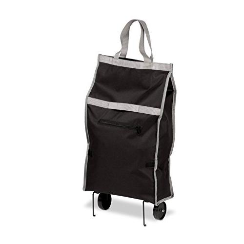 NEW Honey-Can-Do Fabric Rolling Bag Cart with Handles, Holds