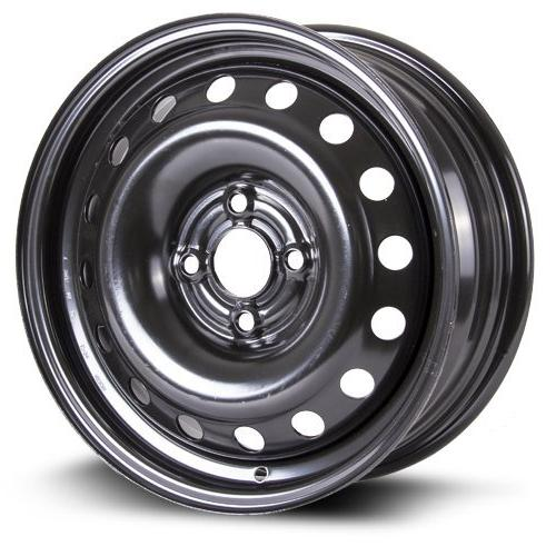 Steel Rim 15X6, 4X100, 57.1, 45, black finish  X99123N