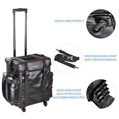 4 Wheels Makeup Case Travel Cosmetic
