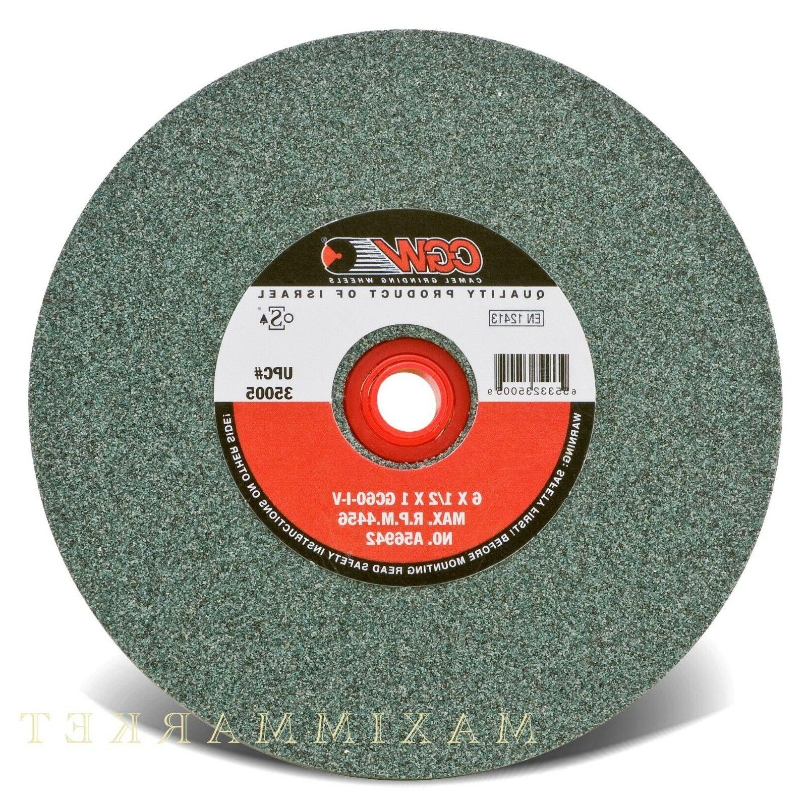 Bench Wheels, Green Silicon Carbide, Carton Pack - 6x1/2x1 g