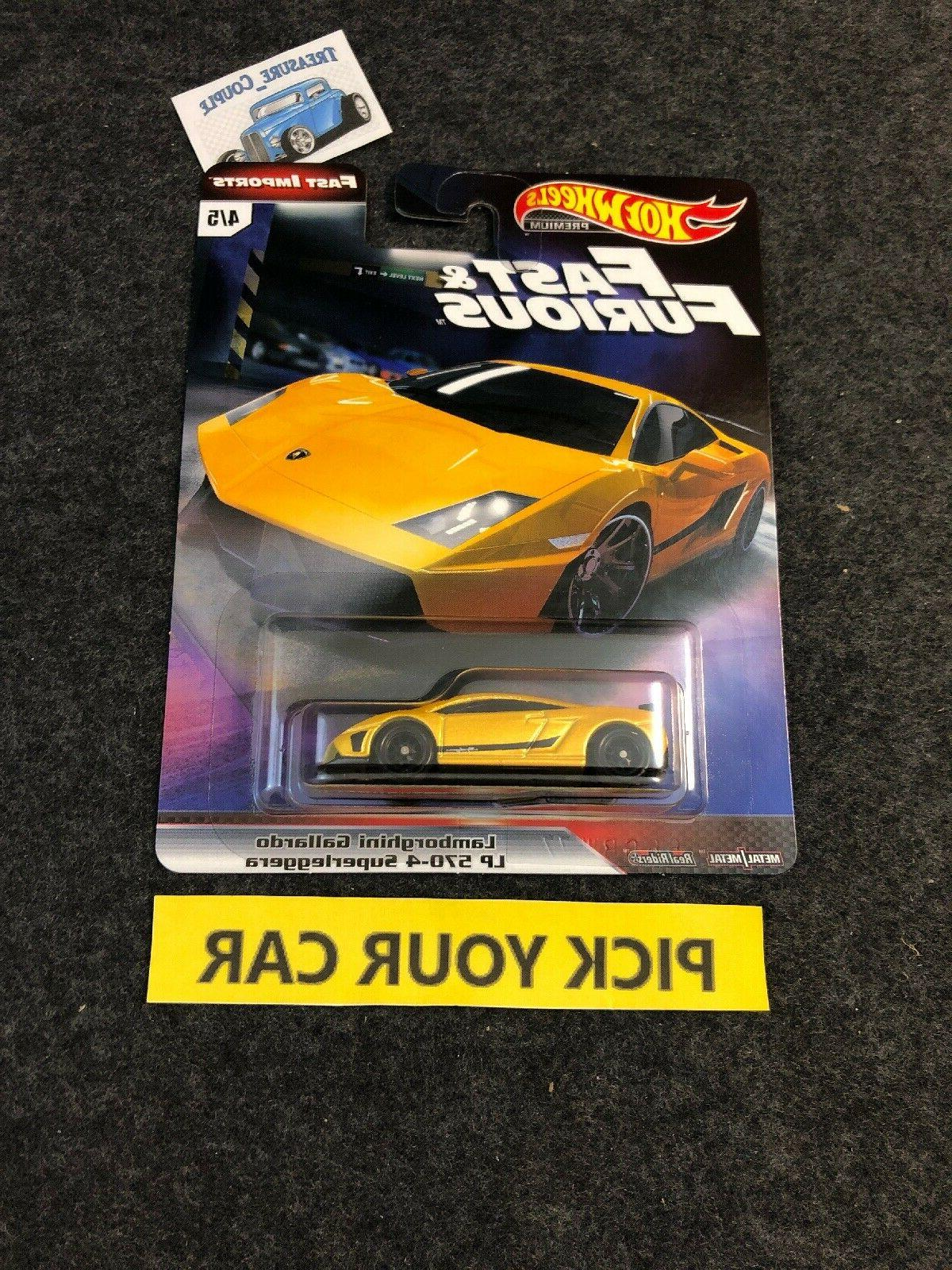 Hot Wheels Culture Singles-Pick your - Fast Furious