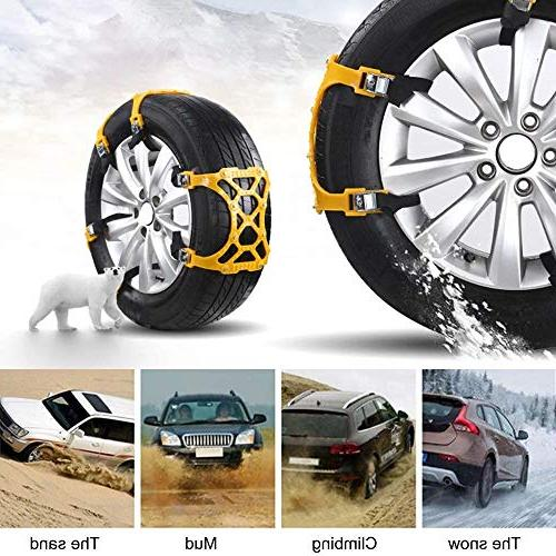 TuhooMall Anti-Skid Car Tyre Snow Slip Emergency All Mud Security